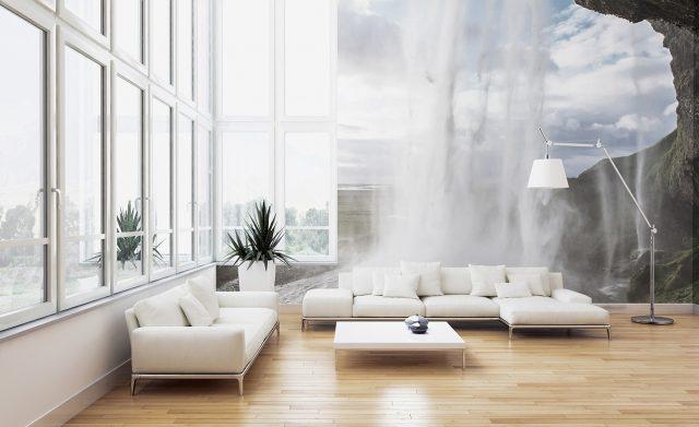 wodospad - fototapeta w salonie